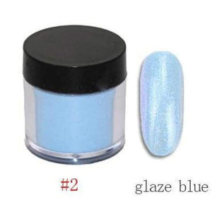 Nail Dipping Powder Longer Lasting Than Uv Gel Polish ! - Glass Blue