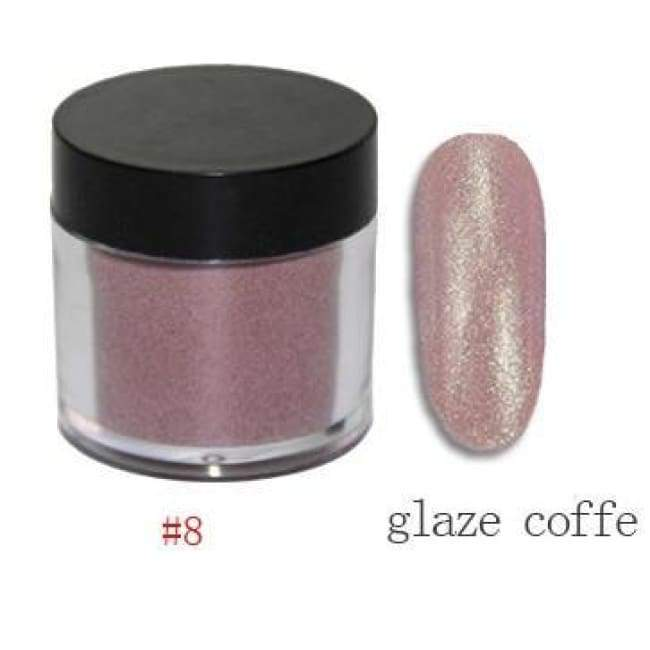 Nail Dipping Powder Longer Lasting Than Uv Gel Polish ! - Glaze Coffee