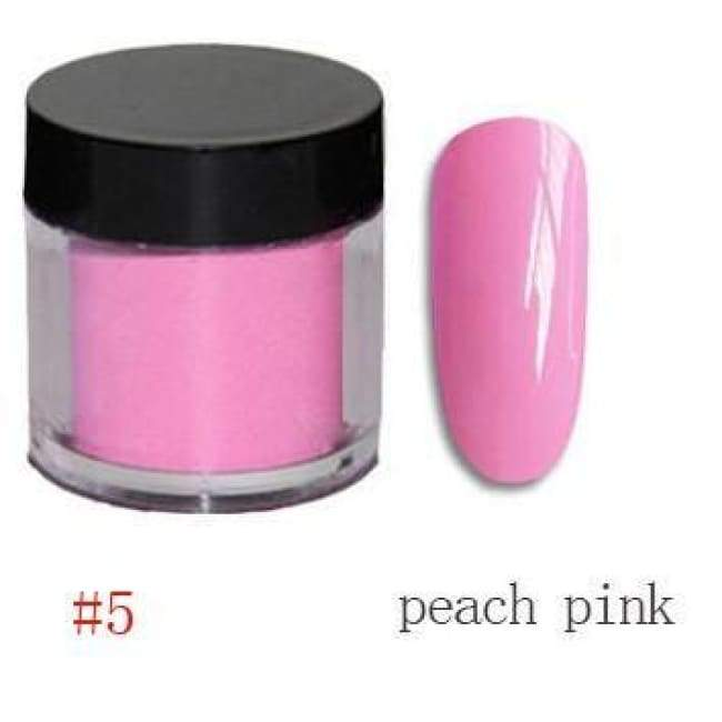 Nail Dipping Powder Longer Lasting Than Uv Gel Polish ! - Peach Pink