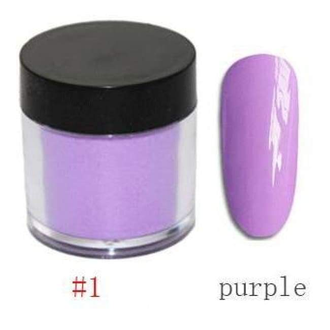 Nail Dipping Powder Longer Lasting Than Uv Gel Polish ! - Purple