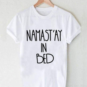 Namastay In Bed T-Shirt - H947 / L