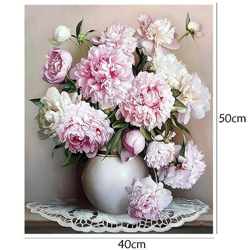 Paint By Numbers Flowers Vase