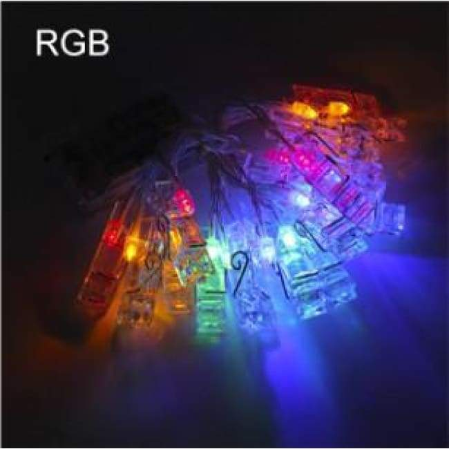 Photo Clip String Lights - Colorful / 3M(10Ft) 30Leds - Home Decor