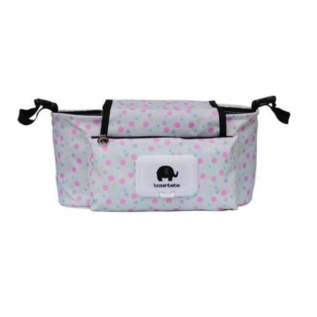 Portable Stroller Pouch - Pink Dot