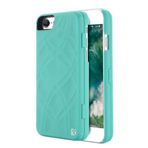Secret Wallet Mirror Case For Iphones - Mint Green / For Iphone 6 6S - Iphone