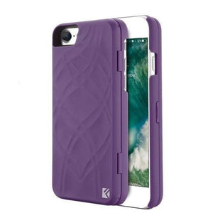 Secret Wallet Mirror Case For Iphones - Purple / For Iphone 8 - Iphone