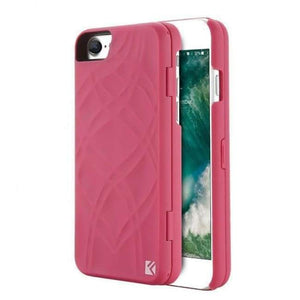 Secret Wallet Mirror Case For Iphones - Rose Pink / For Iphone 8 - Iphone