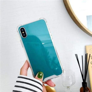 Shock Absorbing Selfie Ready Mirrored Iphone Case - Blue / For Iphone 6 6S