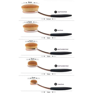 Studio Pro Oval Makeup Brushes - Beauty