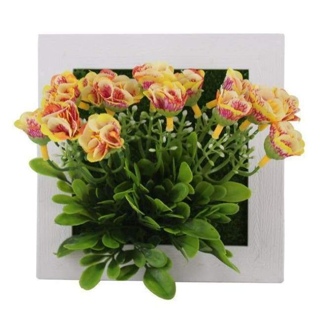Succulent Wall Hanger Frame - Yellow & Red Flowers - Frame