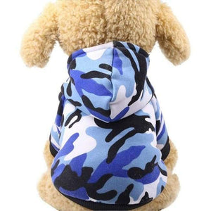 Super Cute Small Pet Hoodie - Blue Camouflage / L - Dog