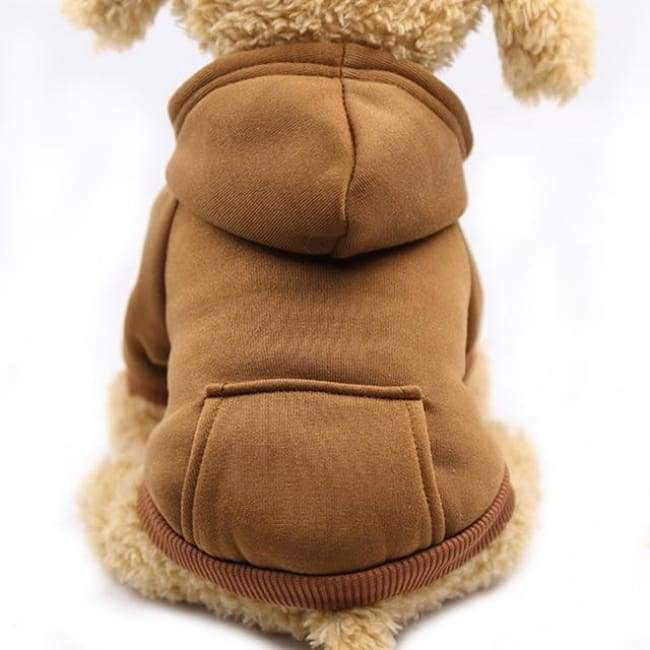 Super Cute Small Pet Hoodie - Brown / L - Dog