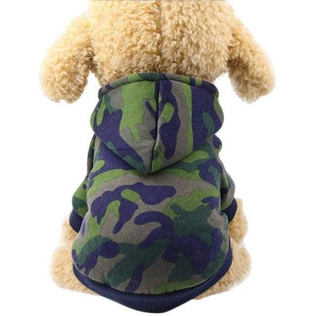 Super Cute Small Pet Hoodie - Green Camouflage / L - Dog