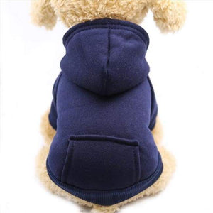 Super Cute Small Pet Hoodie - Navy Blue / L - Dog