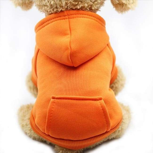 Super Cute Small Pet Hoodie - Orange / L - Dog
