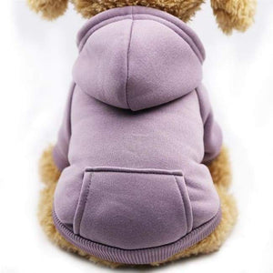 Super Cute Small Pet Hoodie - Purple / L - Dog