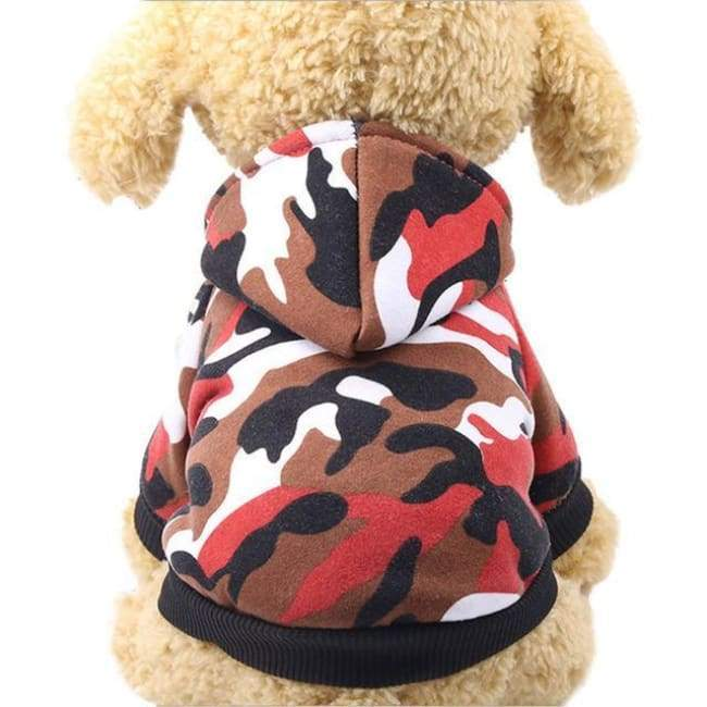 Super Cute Small Pet Hoodie - Red Camouflage / L - Dog