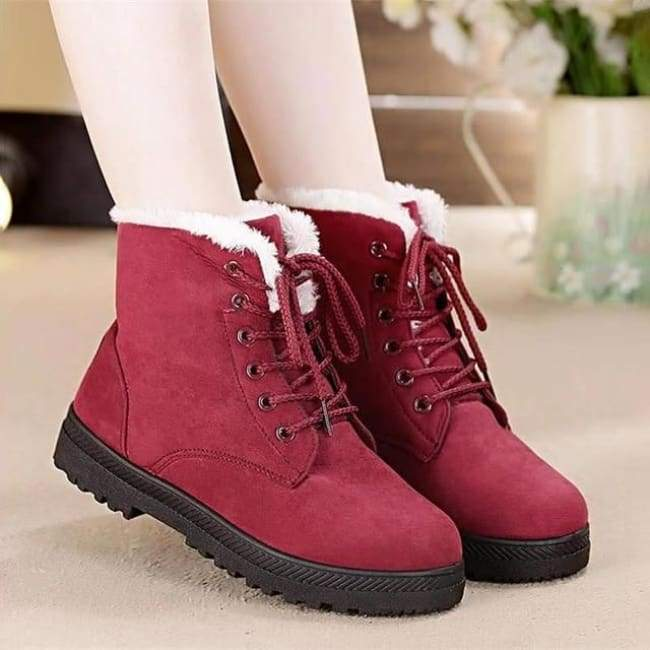 Toasty Toes Women Winter Boots - Red / 4.5