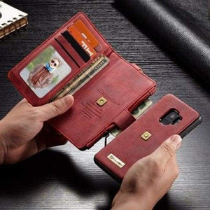 Ultimate All-In-One Leather Iphone Case & Wallet - Red / For Iphone 6 6S