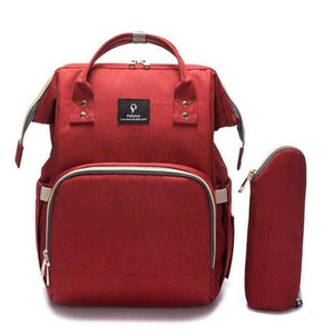 Usb Baby Diaper Bag - Wine Red - Baby