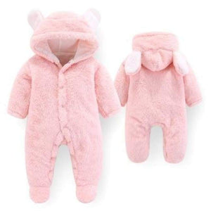 Velvet & Cotton Baby Winter Suit - Pink