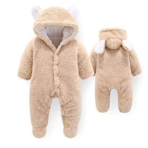 Velvet & Cotton Baby Winter Suit - Tan