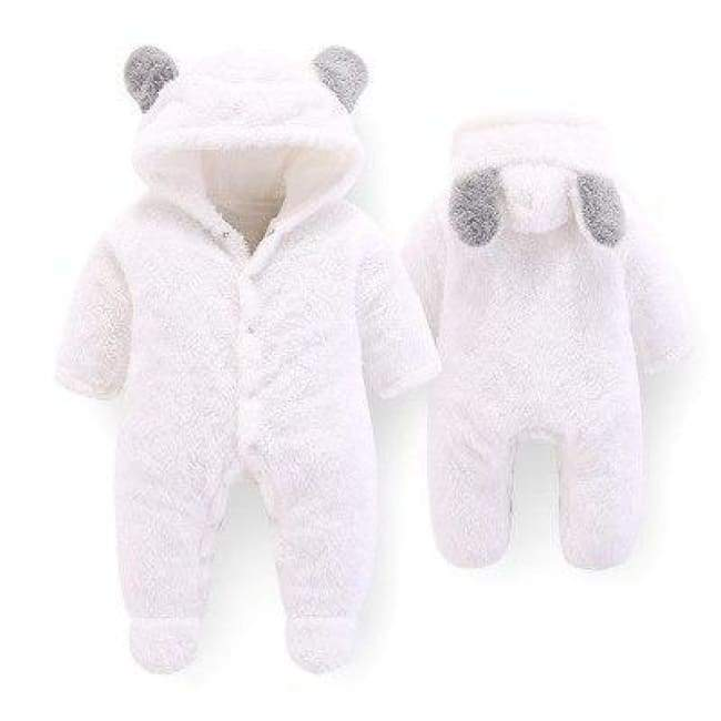 Velvet & Cotton Baby Winter Suit - White