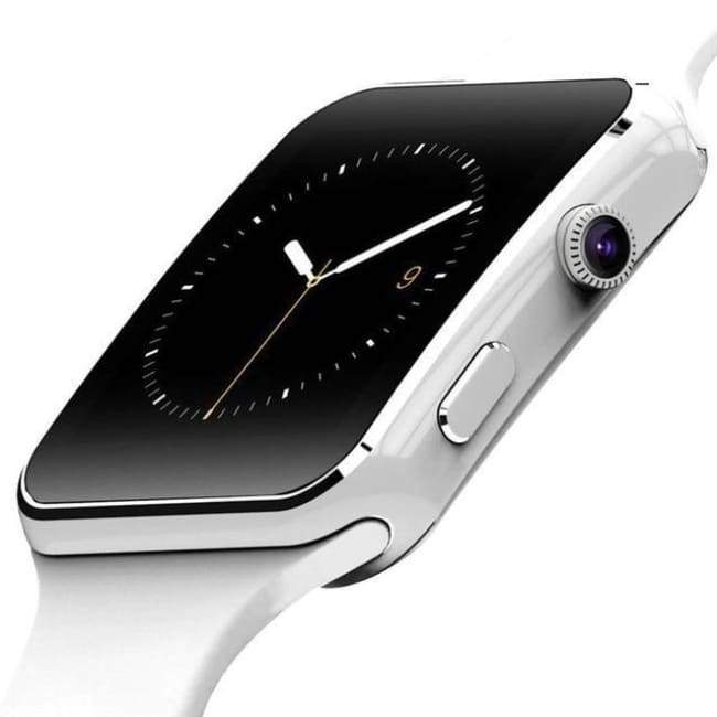 X6 Touch Screen Smart Watch For Android - White - Gift
