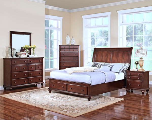 New Classic Spring Creek Storage Bed - Tobacco Finish