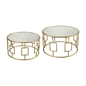 STEIN WORLD KING PRIAM COCKTAIL TABLES (SET OF 2)
