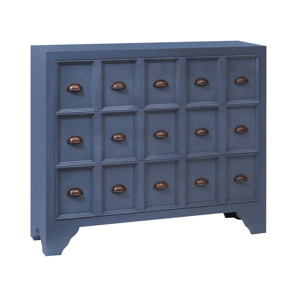 STEIN WORLD SHELBY APOTHECARY-STYLE CHEST IN ARCHIPELAGO BLUE
