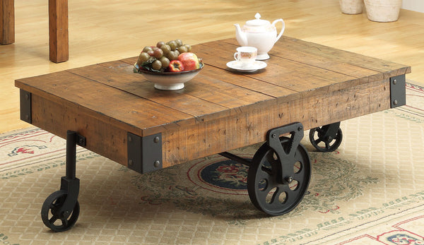 Rolling Cart Cocktail Table
