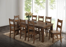 Load image into Gallery viewer, 7 piece Coleman Rustic Dining Table with 6 Side Chairs