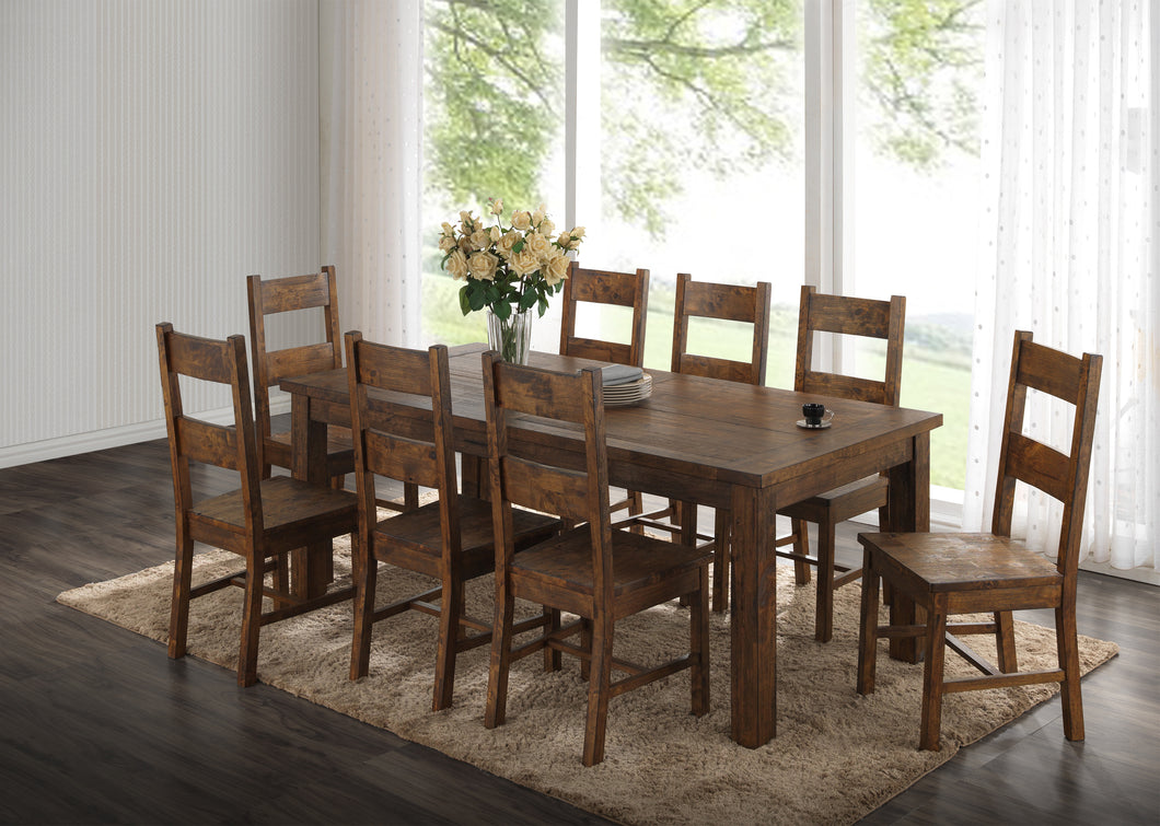 7 piece Coleman Rustic Dining Table with 6 Side Chairs