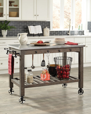 Coaster Industrial Kitchen Island with Casters - 100527