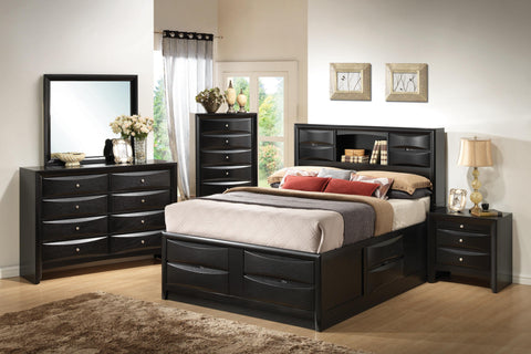 Coaster 4pc Queen bed Set (Bed, Nightstand, Dresser, Mirror) 202701Q-S4