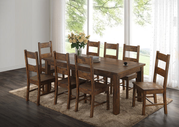 5 piece Coleman Rustic Dining Table with 4 Side Chairs