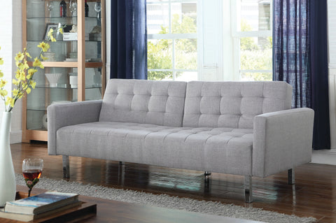 Coaster Button Tufted Futon Sofa Bed