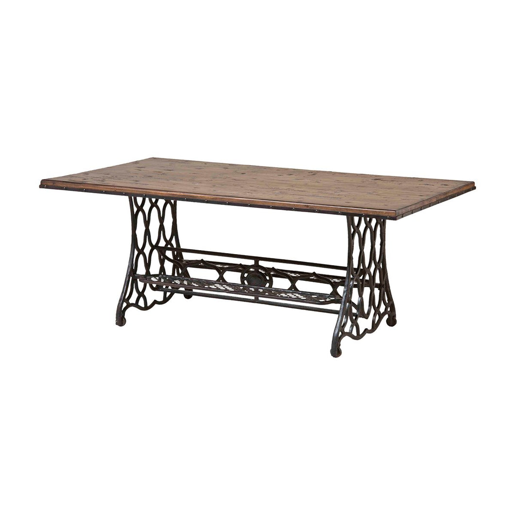 STEIN WORLD JANE RAE WOOD AND METAL COFFEE TABLE
