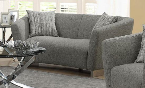 Grayson Contemporary Loveseat with Angled Shelter Arms