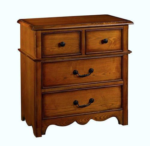 New Classic Hailey 4 Drawer Nightstand in Toffee Finish