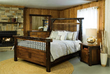 Load image into Gallery viewer, Amish Reclaimed Barn Wood Timber Bed