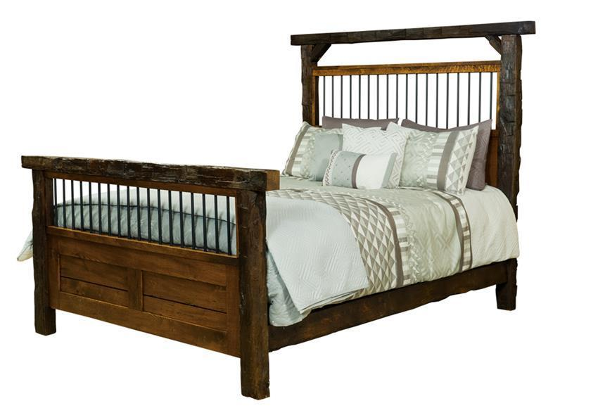 Amish Reclaimed Barn Wood Timber Bed