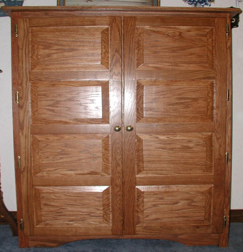 8-Panel Oak Pie Safe with Raised Wood Panels HORIZONTAL