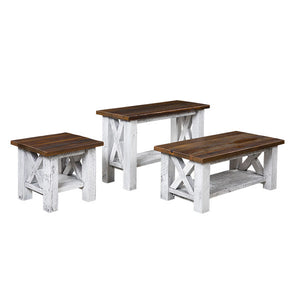 Margate Occasionals Table Set Reclaimed Barnwood