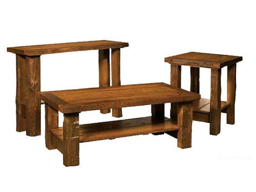 Reclaimed Timber Frame Set- Sofa Table, Coffee Table, & End Table