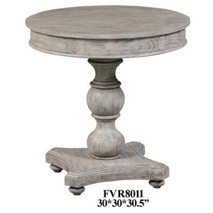 Hawthorne Estate Round Turned Post Accent Table by Crestview