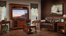 Load image into Gallery viewer, Amish Bridgeport Plasma TV Stand with Hutch Top