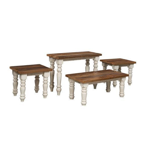 Farmhouse Reclaimed Barn Wood Table Set- Sofa, Coffee, & End Tables