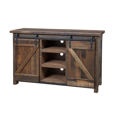 Amish Reclaimed Barndoor TV Stand